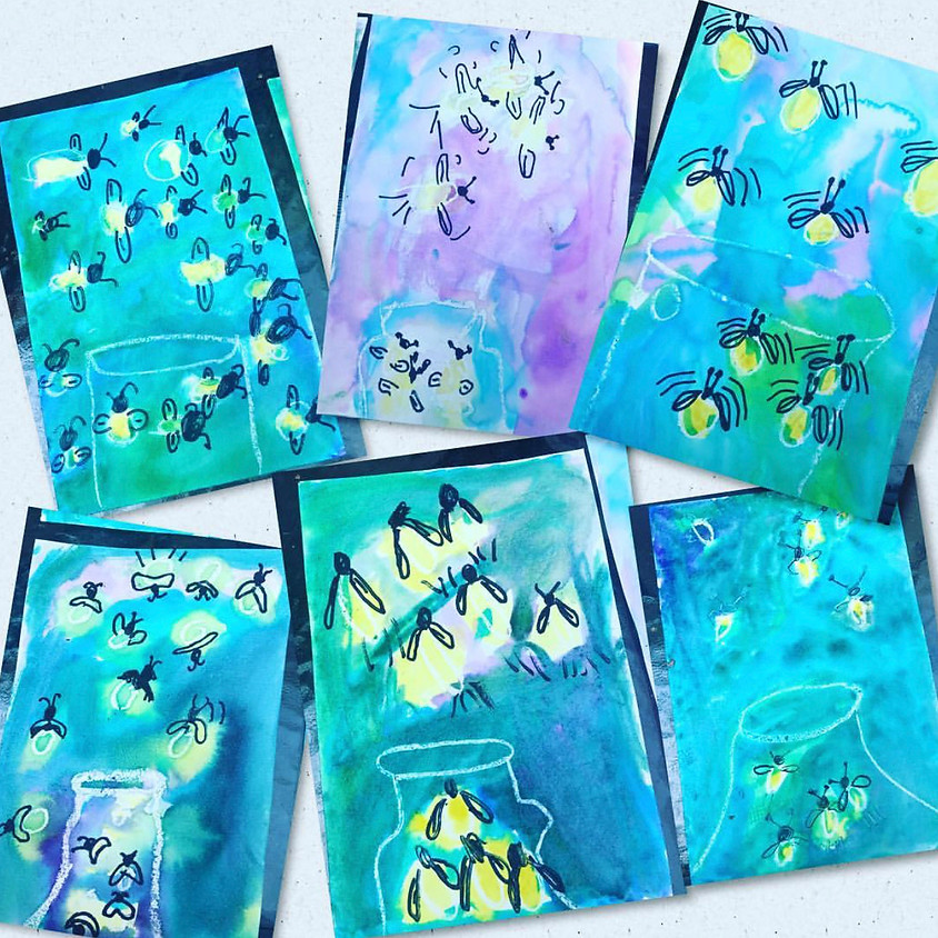 Firefly watercolor painting workshop K-8