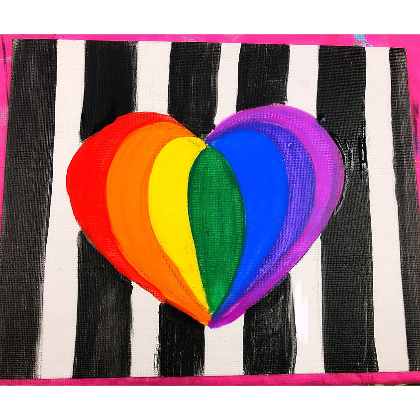 Rainbow Heart Workshop. Grades 3 and up! Adults welcome