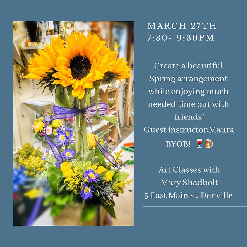 Spring Floral Arrangement Workshop- BYOB!