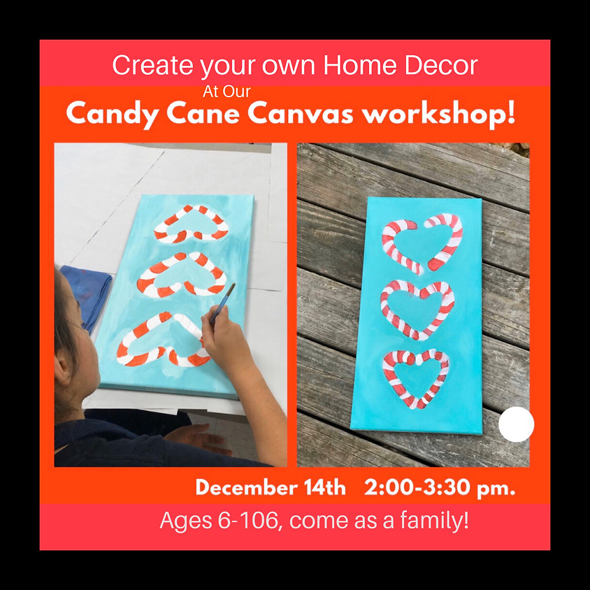 Candy Cane Heart Painting for ages 6-106!