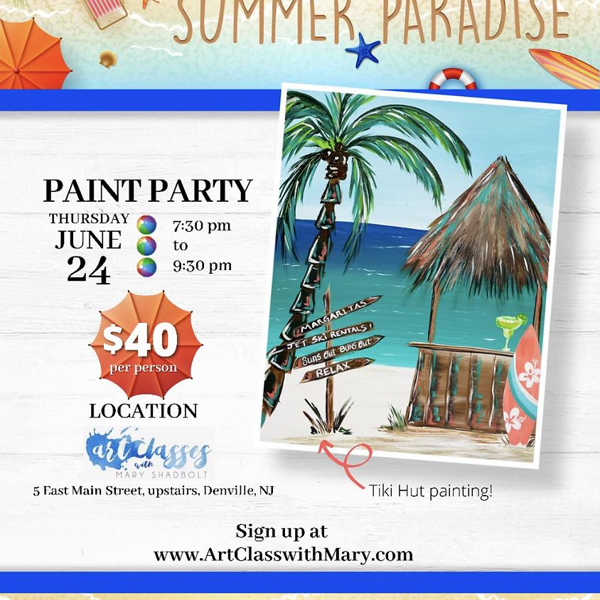 Tiki Hut Paint Party