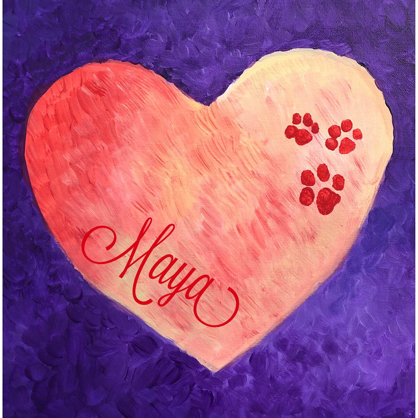 Paws on my Heart Painting workshop! 16 to adult (1)