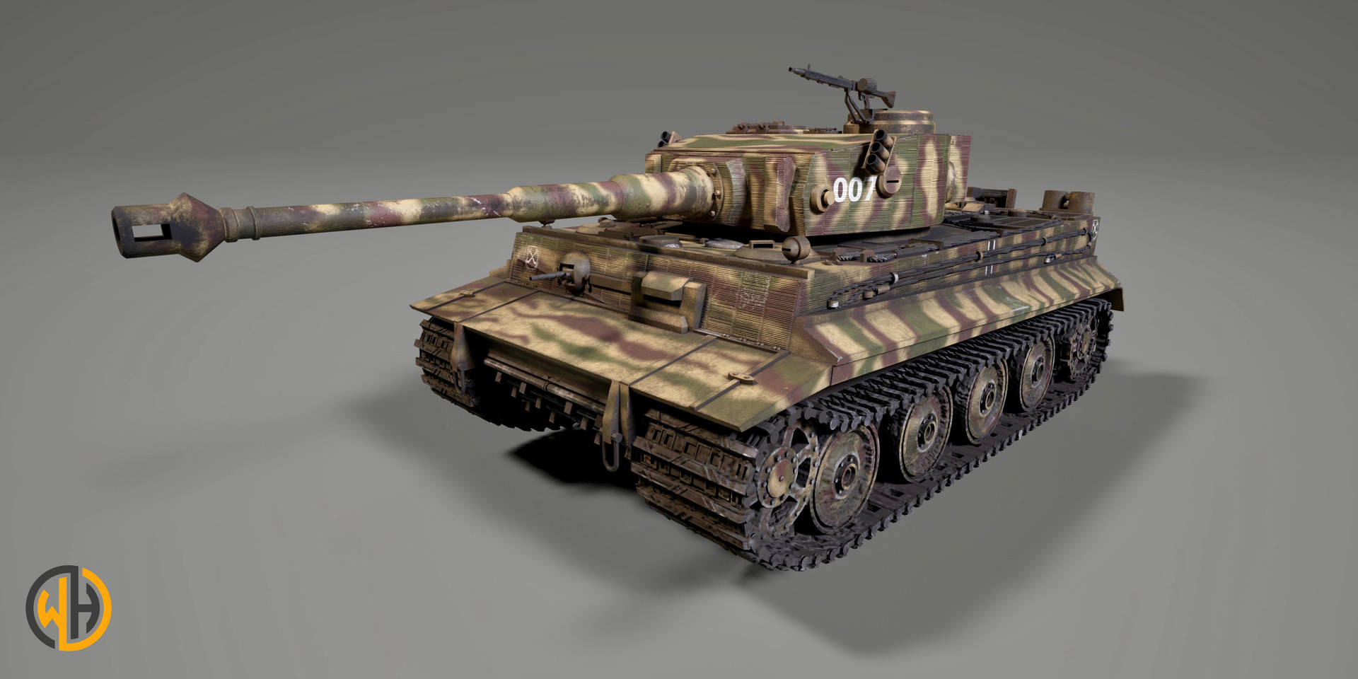 Tiger Tank Front View