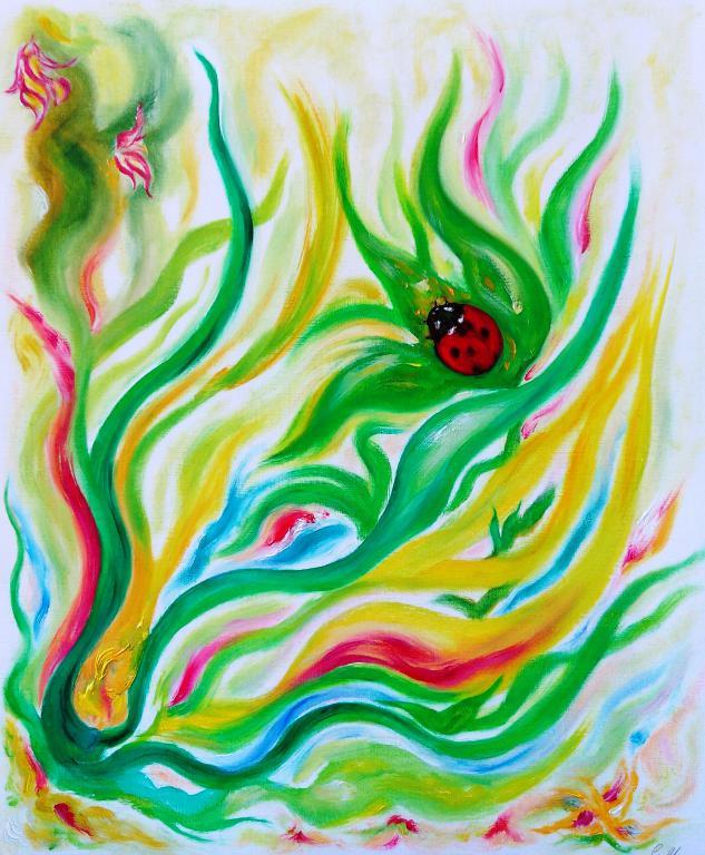 Catia Massa -Signos n.8 -Oleo sobre papel- cm 38x46