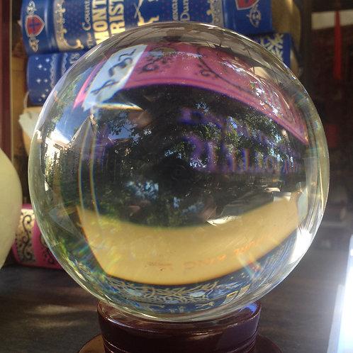 Crystal gazing ball- medium