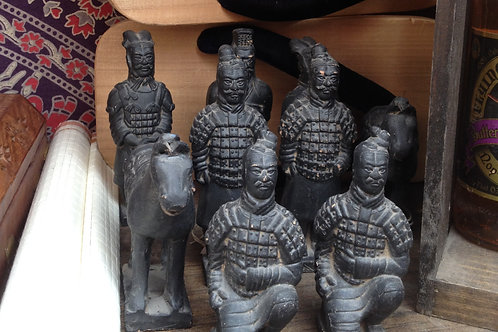 Chinese Terra Cotta Warrior statuettes