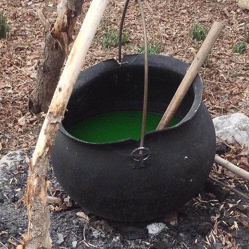large witch's cauldron