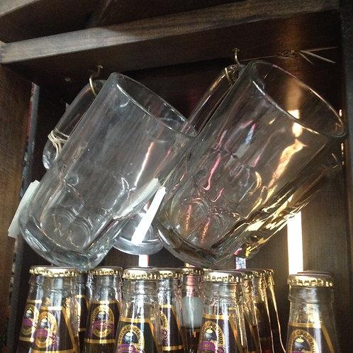 Glass drinking mug- medium