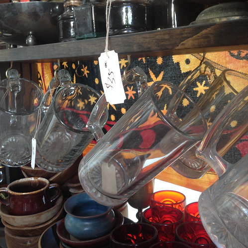 Glass drinking mug- lg