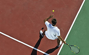 Une partie de tennis