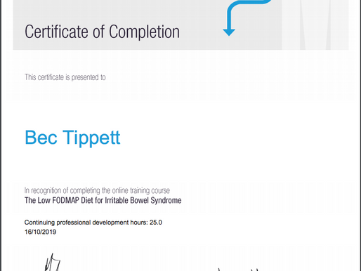 Now a FODMAP expert!