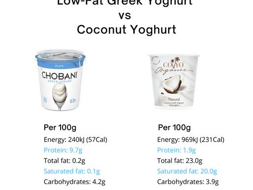 Low-fat Greek yoghurt versus Coconut yoghurt 🧐