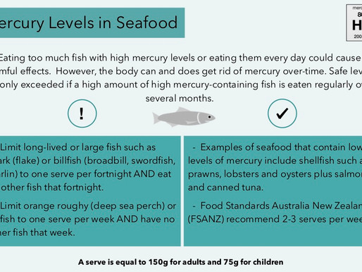 Mercury Levels in Seafood