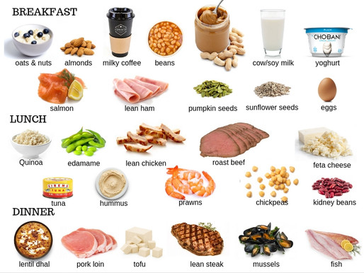 Sources of  Protein to Eat Throughout the Day