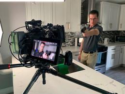 On set shooting a shortfilm