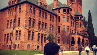 Arriving on a castle set