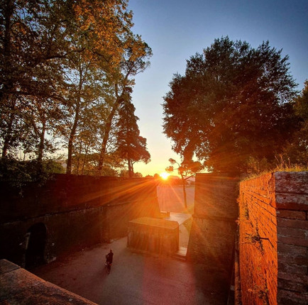 To a visitor coming to Lucca, Tuscany probably in autumn