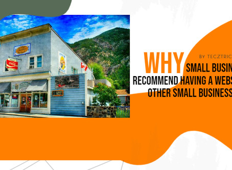 Why Small Business's recommend having a WEBSITE to other Small Businesses
