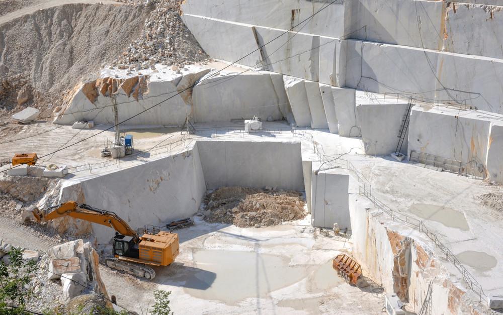 Tambang marmer Statuario, Carrara dan Calacatta.
