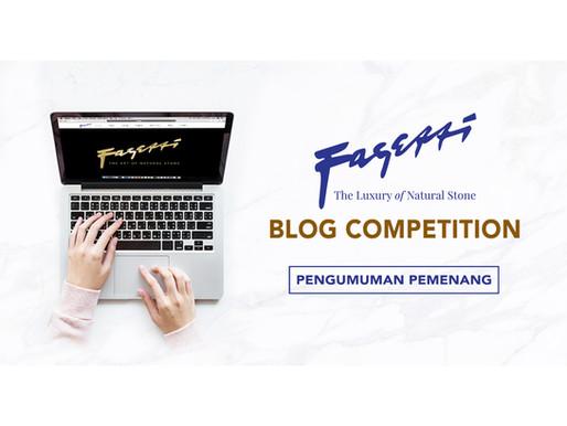 Pengumuman Pemenang Fagetti Blog Competition
