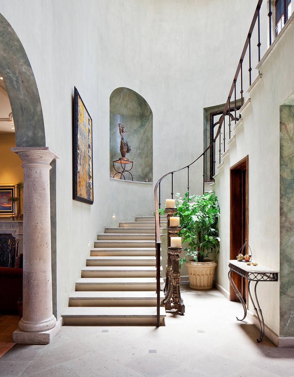 niche marmer area tangga