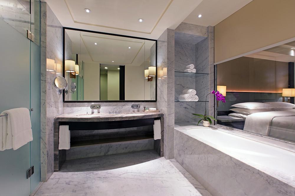 marmer kamar mandi  hotel