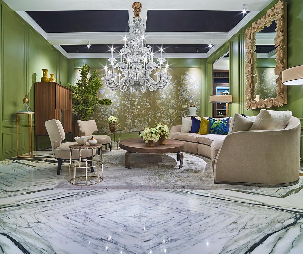Pilihan warna, motif dan corak lantai marmer