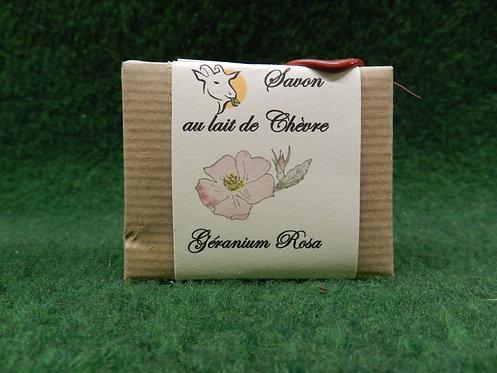 Savon au lait de chèvre Geranium Rosa