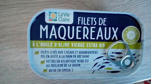 Filets de Maquereaux à l'huile d'olive vierge extra BIO