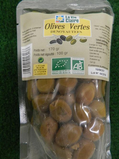 Olives vertes dénoyautés