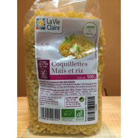Coquillette maïs et riz la vie claire