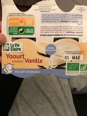 Yaourt saveur vanille