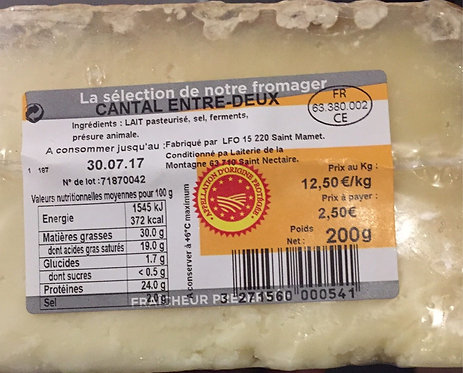 Fromage cantal la vie claire