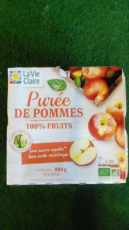 Purée de pommes 100% fruits X8