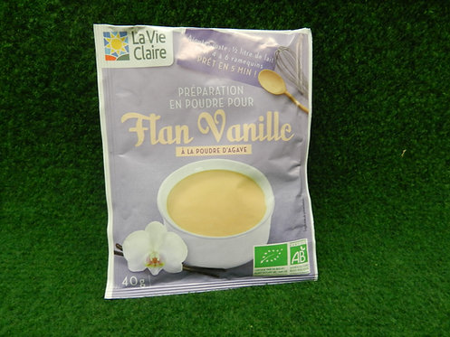 Flan vanille la vie claire