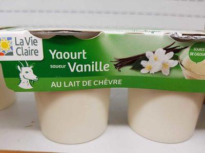 Yaourt vache lait demi écrémé à la Vanille  4 pots