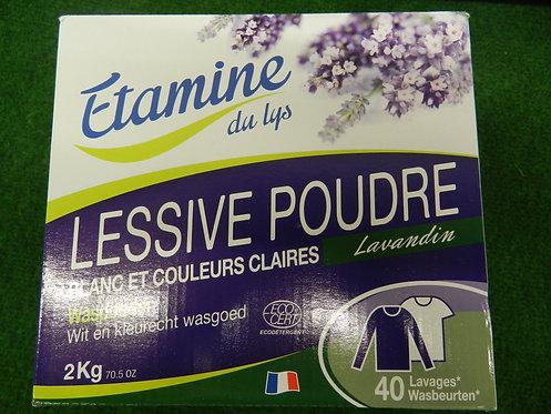 Lessive poudre lavande 40 lavages Étamines du Lys