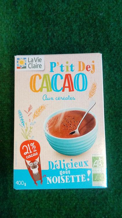 Petit déjeuner cacao céréales enfants