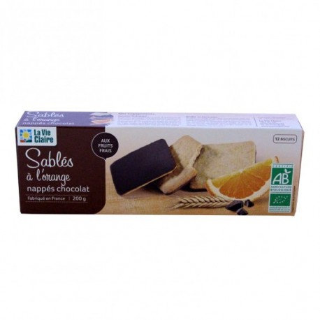 SABLES ORANGE NAPPES CHOCOLAT