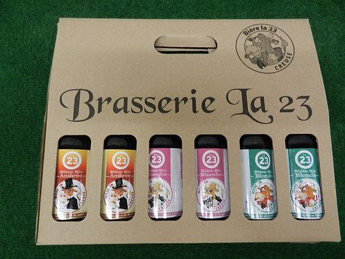 Pack 6X 33 cl Brasserie du 23, Ambrée, blanche et blonde