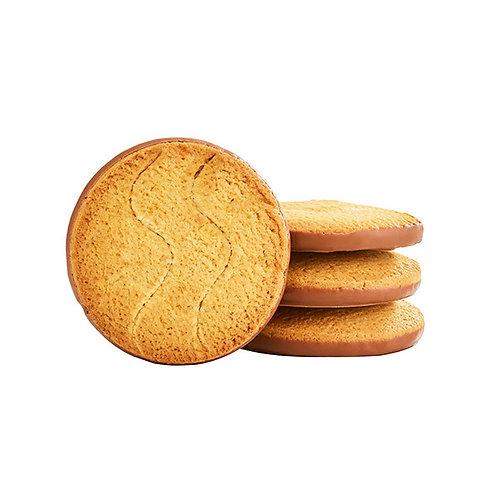Biscuit nappé au chocolat au lait