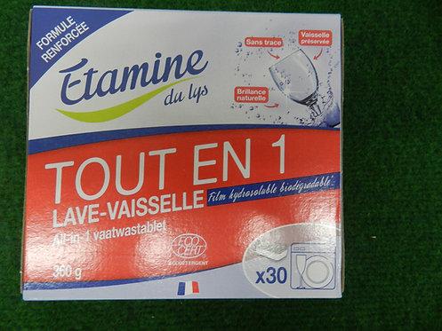 Tablette lave vaisselle 30 lavages étamines du lys