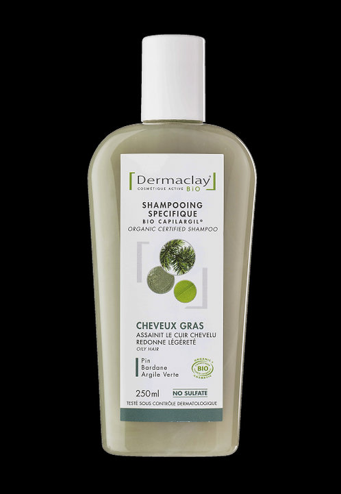 Shampoing cheveux gras 250ml Dermaclay