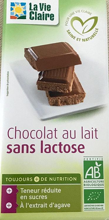 Chocolat au lait sans lactose