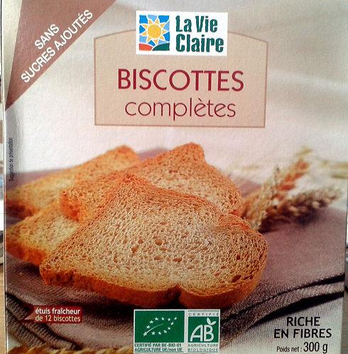 Biscottes sans sucre et sans sel ajoutés la vie claire