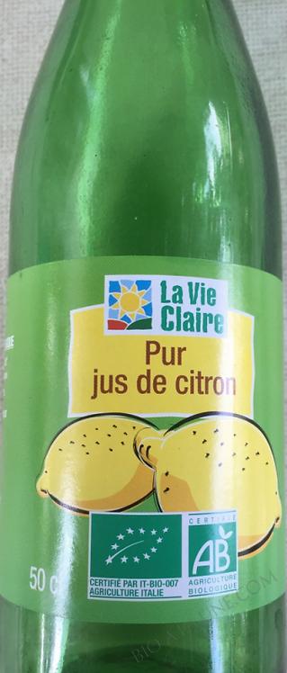 Pur jus de citron 50cl