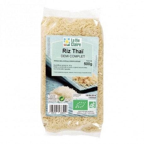 Riz thaï 1/2 complet la vie claire 500g