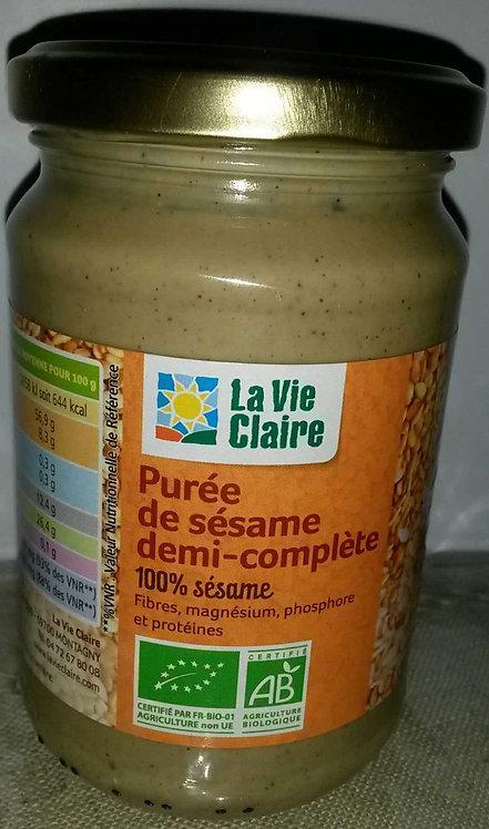 Purée de sésame demi-complète - La Vie Claire - 300 g