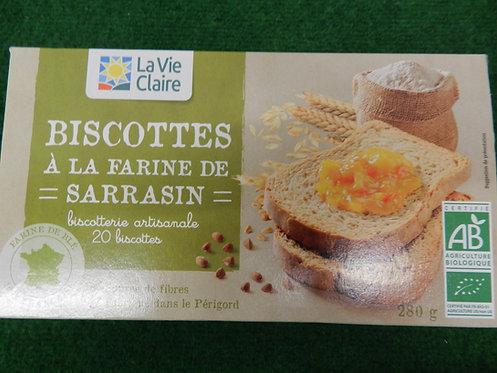 Biscottes farine sarrasin 280g