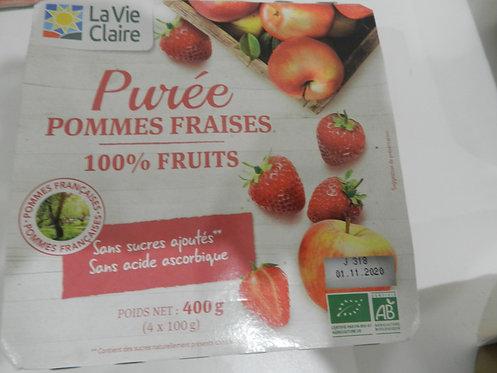 Purée pomme fraise la vie claire